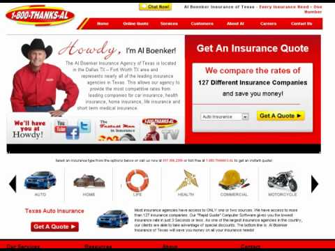Texas Auto Insurance | Al Boenker Insurance Commercial - Most Companies Only Sell One Rate
