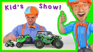 Learn Colors with Monster Trucks for Children with Blippi