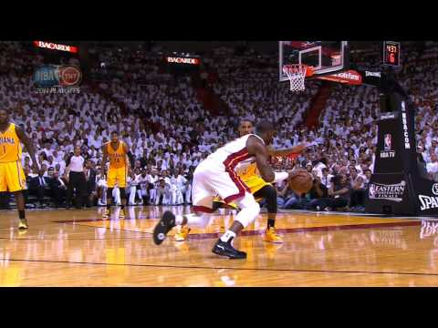 Check out this crazy sequence from Game 1 of the Eastern Conference Finals as Dwyane Wade puts on the killer crossover to get to the hoop & gets blocked by Roy Hibbert which leads to a buzzer-beati...