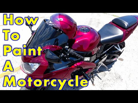 How To Paint A Motorcycle Complete Step By Step / How To Spray Kandy Paint : ALLKANDY MERLOT RED