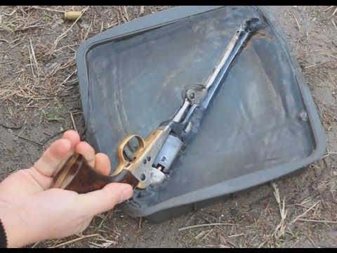 Water vs. Uberti 1851 Navy percussion revolver