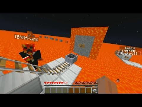 Minecraft SEA OF LAVA Parkour with Vikkstar & PrestonPlayz (Minecraft Parkour)