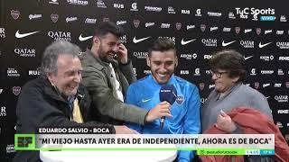 """La alegría de Salvio y su familia: """"Soy de Boca desde chiquito, no iría nunca a jugar a River"""""""