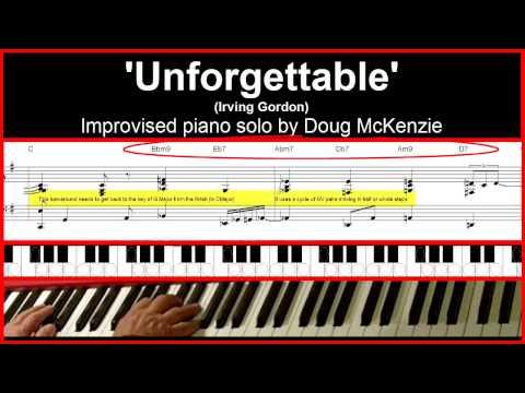 'Unforgettable' - jazz piano tutorial