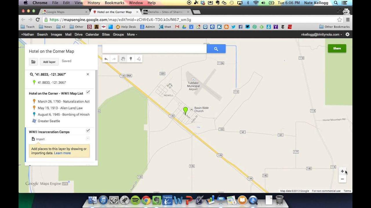How To Add Layers To Google Maps Wwii Project Youtube