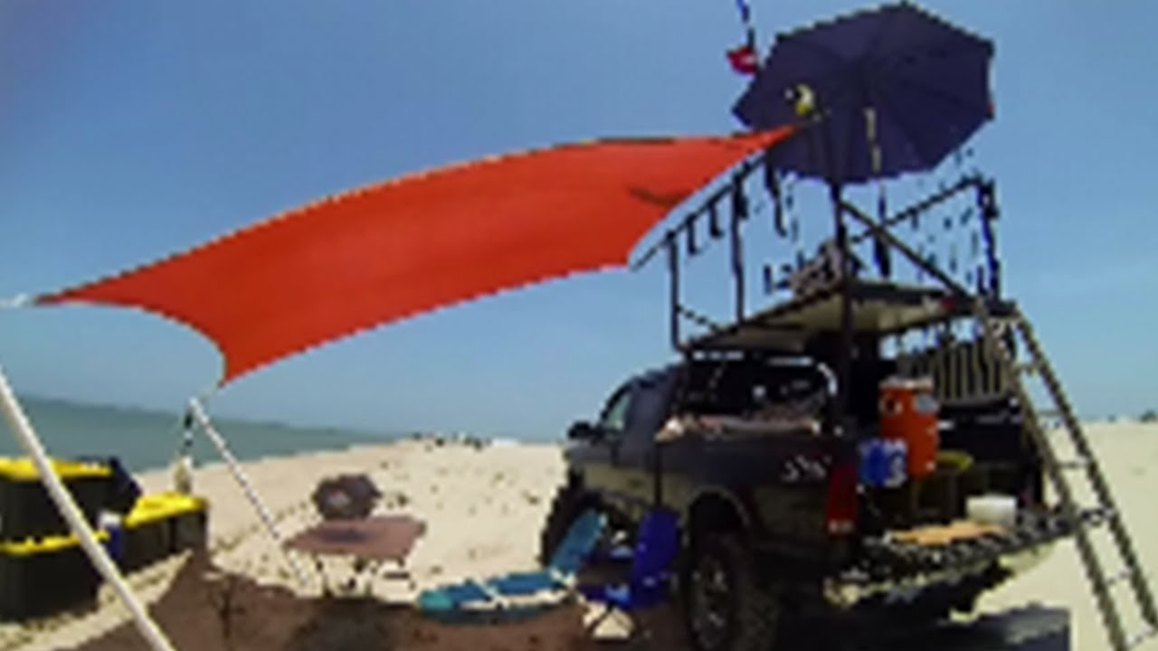 The Ultimate Land Based Shark Fishing Platform Setup - YouTube