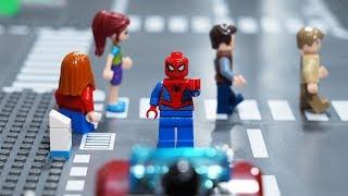 LEGO animated short film - LEGO Spiderman cross the road