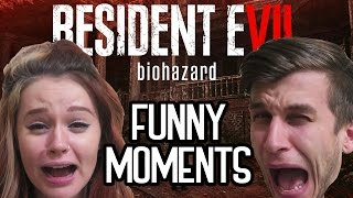 Resident Evil 7 FUNNY MOMENTS WITH MY GF + EPIC JUMP SCARES #1