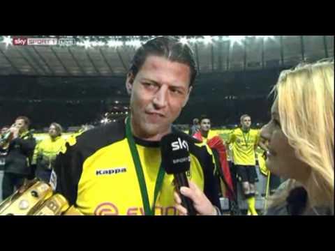Interview Weidenfeller & Bierdusche für Jessica Kastrop DFP Pokal Finale 2012