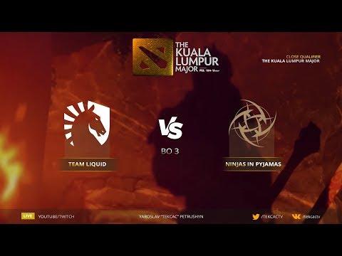 🤠 [RU] Team Liquid vs Ninjas in Pyjamas | Bo3 | The Kuala Lumpur Major