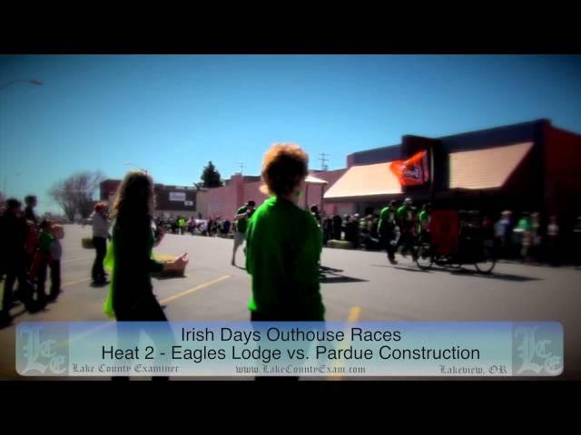 Irish Days: Outhouse Races 3-15-2014