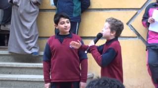 اسكتش عن الصداقة في طابور مدارس طيبه لفصل 5 2
