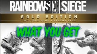 Rainbow Six Siege Gold Edition Season Pass | What do you get?