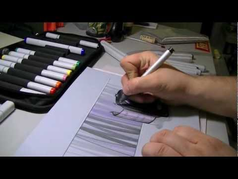 Product Design Rendering using Copic Markers (Trudeau Corporation)
