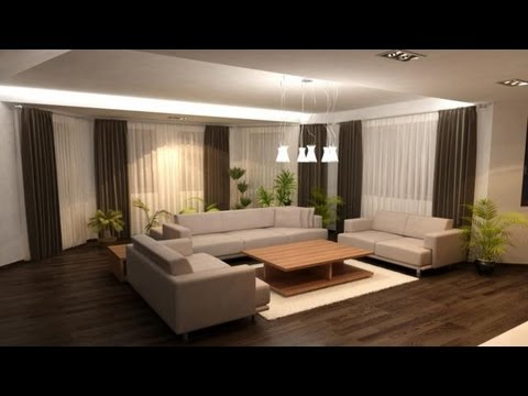 Salas decoracion como decorar un living youtube for Cortinas interiores casa