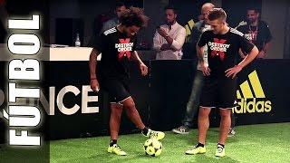 Fútbol Freestyle con Gareth Bale, Marcelo Vieira & Football Tricks Online - Adidas The Base