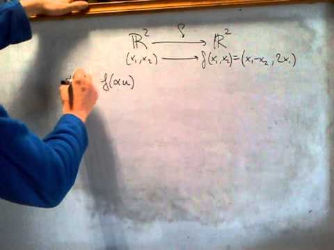 ÁLGEBRA - Cómo determinar si una aplicación es o no lineal