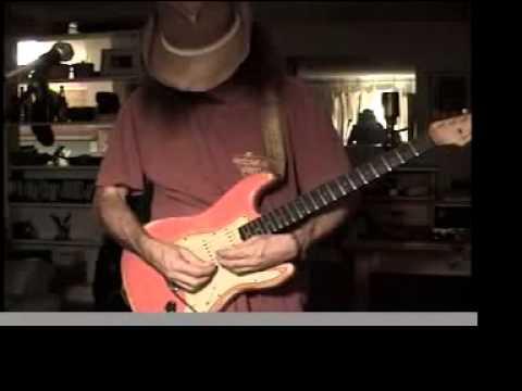 Slide guitar on old strat. Fender deluxe tube amp.