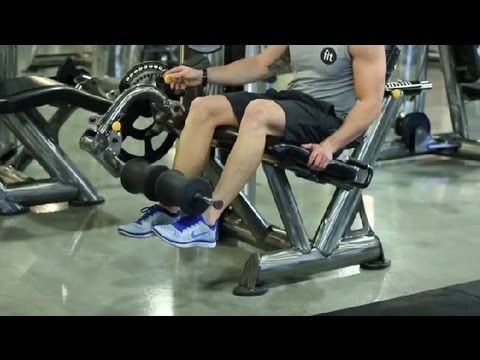 Seated Leg Extension Machine Features : Gym Workout Tips Image 1