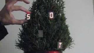 LED micro-readerboard christmas ornaments