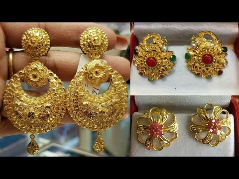Latest Designer Gold Earrings