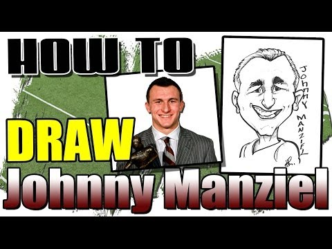 How To Draw A Quick Caricature of Johnny Manziel