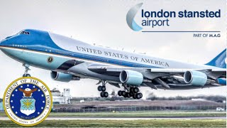 Air Force One Departs London Stansted Airport | 24th April 2016