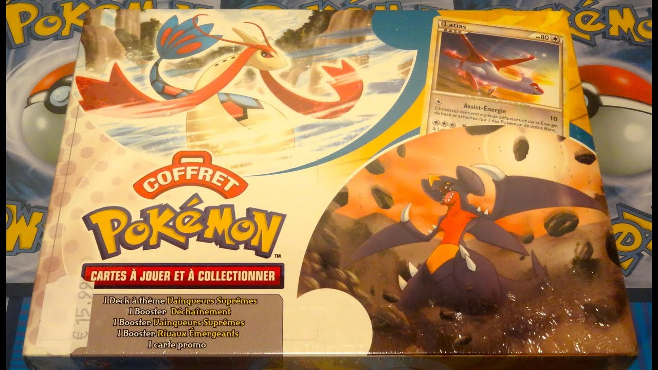 Ouverture d 39 un coffret pok mon platine vainqueurs supremes - Pokemon legendaire platine ...