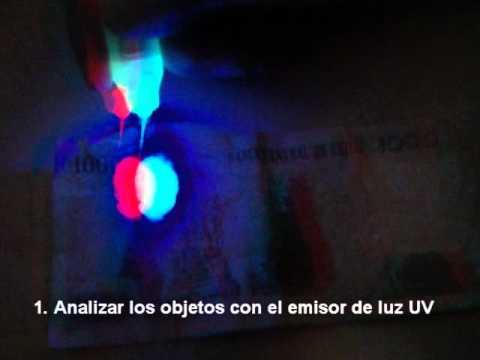 Focos con luz ultravioleta