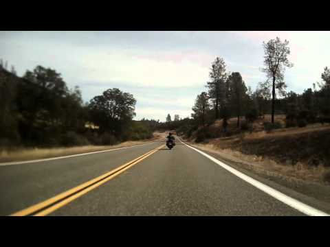 California Highway 36 on a motorcycle