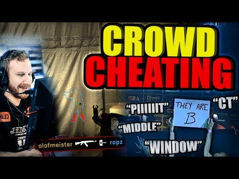 When Crowds Help CS:GO Pros - Highlights (Crowd Cheating)