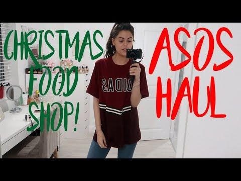 CHRISTMAS FOOD SHOP AND AN ASOS HAUL! VLOGMAS DAY 21