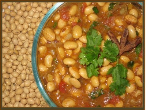 How to Make Soya Bean Curry &#8211; Vegetarian Indian Food Recipes