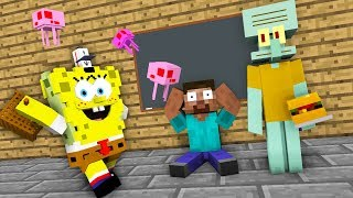 Monster School : SPONGEBOB SQUAREPANTS GAME CHALLENGE - Minecraft Animation