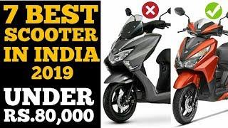 Best Scooter In India 2019 Under Rs80,000*, In Term Of Popularity | Full Description  | minute