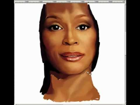 tribute-whitney houston- speed painting