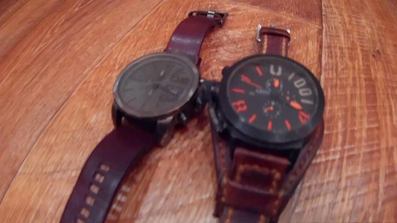 Кожаный браслет для часов своими руками 13