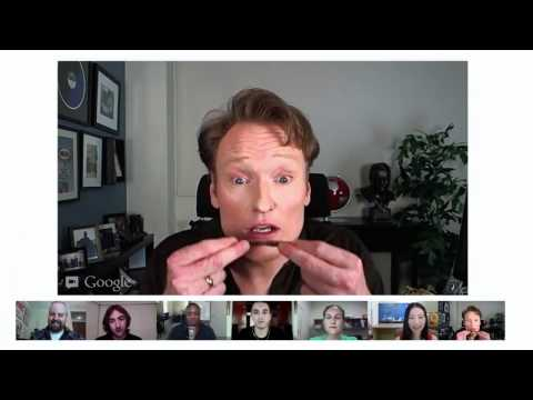 Hangout On Air with Conan O'Brien Highlights