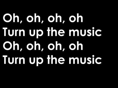 Chris Brown - Turn Up the Music (Lyrics)