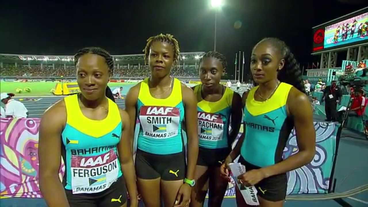 IAAF World Relays Bahamas 2014 - Mixed Zone 2 Laps Race ...