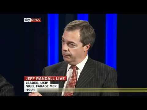 Sky News - UKIP Nigel Farage on UK immigration (14 Apr 2011)