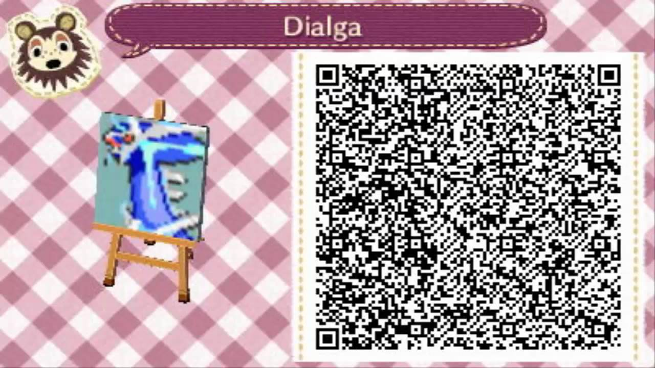 Animal crossing new leaf pokemon design qr codes youtube for Floor qr codes new leaf
