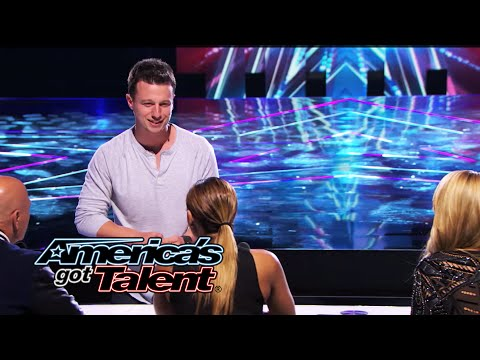Mat Franco: Card Trick Paints Picture of Howie Mandel - America's Got Talent 2014