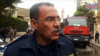 قوات الحماية المدنية تسيطر على حريق سنترال رمسيس
