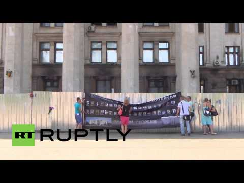 Ukraine: Odessa fire dead remembered by supporters