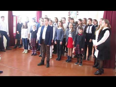 Пісня у виконанні хору учнів Джурівської ліцею
