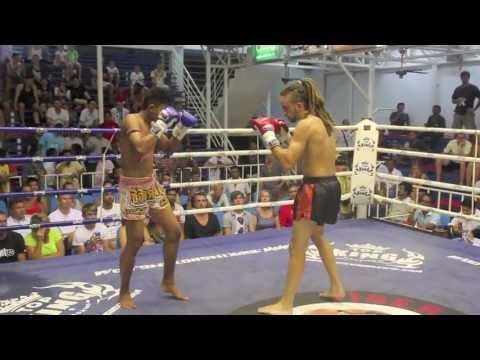 Ivan Ferrero (Tiger Muay Thai) spectacular spinning back elbow KO @ Bangla Boxing Stadium 24/4/2013 Image 1