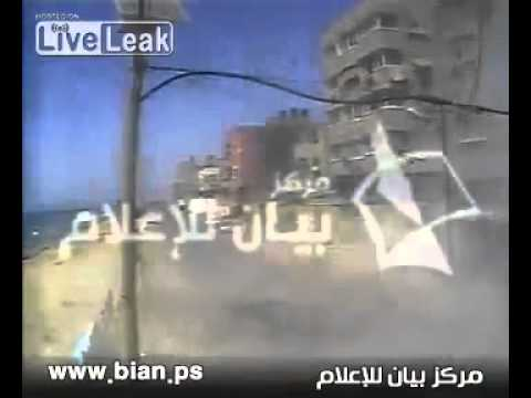 Gaza - Israeli Air Force Pinpoint Strike Hits 2 Islamic Terrorists --  CCTV