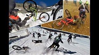 Megavalanche 2018 CRASHES AND HIGHLIGHTS team WoIP. (Rylo 360 cam)