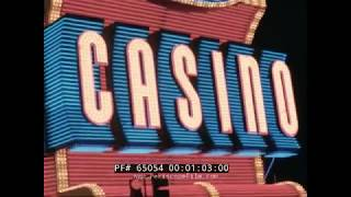 1963 LAS VEGAS HOME MOVIES   HOTEL FLAMINGO CASINO  FREMONT STREET NEON SIGNS  PIONEER CLUB 65054